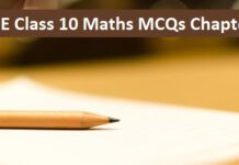 CBSE Class 10th Maths| Applications of Trigonometry MCQ with Answers PDF
